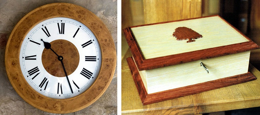 Clock and Jewellery Box